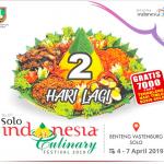 Solo Indonesia Cullinary Festival 2019 Agenda Wisata Solo Di Bulan April